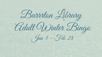 Burrrton adult winter reading BINGO