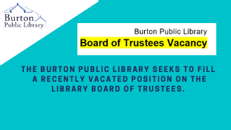 Board of Trustees Vacancy-Join our Library Team