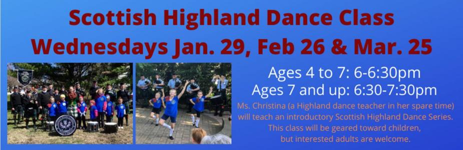 Scottish Highland Dance Class with Ms. Christina